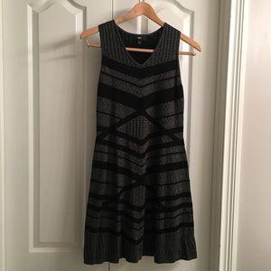 Mossimo Sleeveless Grey & Black Dress Flare Skirt